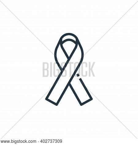 ribbon icon isolated on white background. ribbon icon thin line outline linear ribbon symbol for log