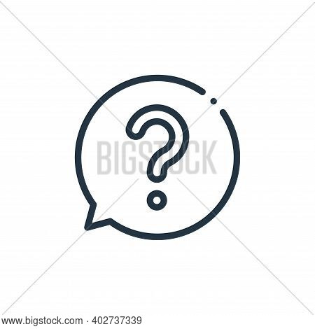 ask icon isolated on white background. ask icon thin line outline linear ask symbol for logo, web, a