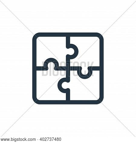 puzzle pieces icon isolated on white background. puzzle pieces icon thin line outline linear puzzle