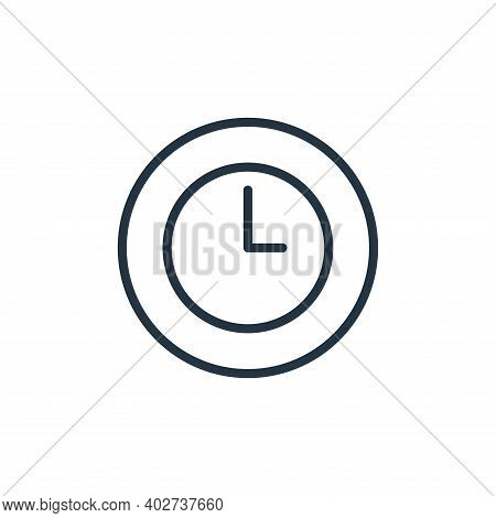 time icon isolated on white background. time icon thin line outline linear time symbol for logo, web
