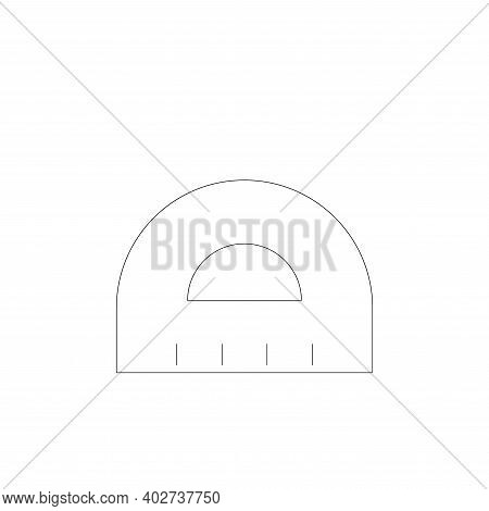 ruler icon isolated on white background. ruler icon thin line outline linear ruler symbol for logo,