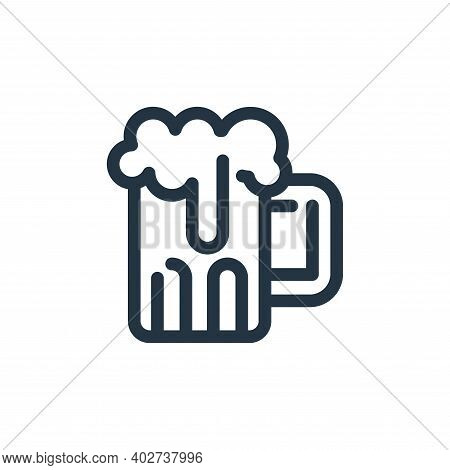 beer icon isolated on white background. beer icon thin line outline linear beer symbol for logo, web