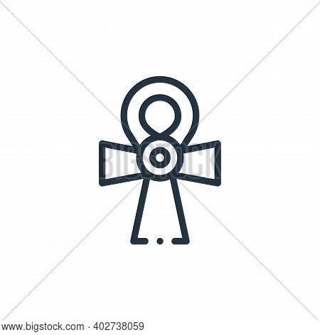 ankh icon isolated on white background. ankh icon thin line outline linear ankh symbol for logo, web