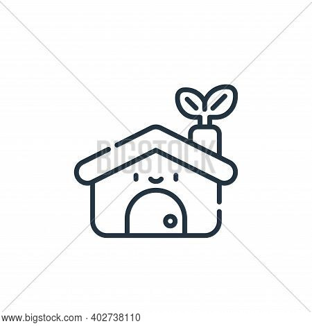 eco home icon isolated on white background. eco home icon thin line outline linear eco home symbol f