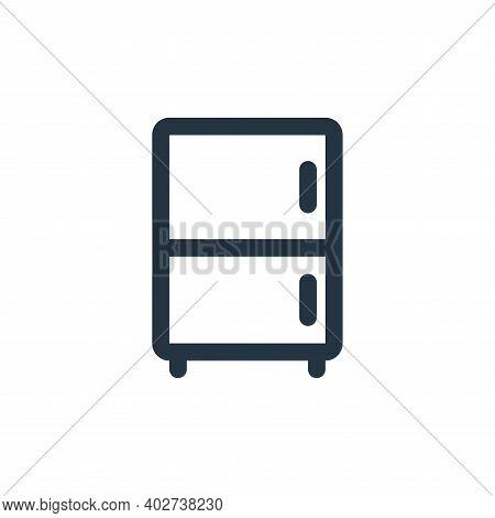 refrigerator icon isolated on white background. refrigerator icon thin line outline linear refrigera