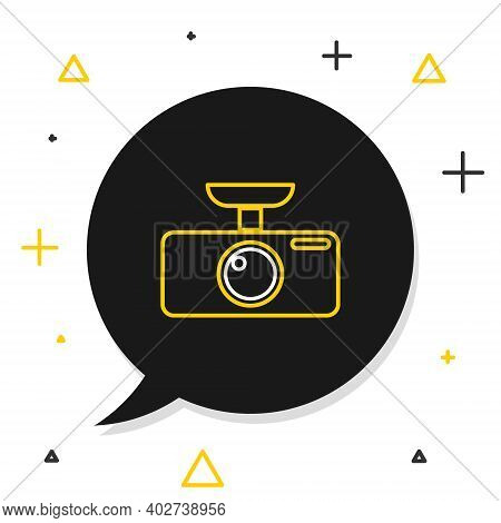 Line Car Dvr Icon Isolated On White Background. Car Digital Video Recorder Icon. Colorful Outline Co