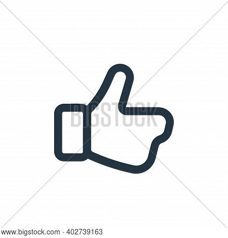 like icon isolated on white background. like icon thin line outline linear like symbol for logo, web