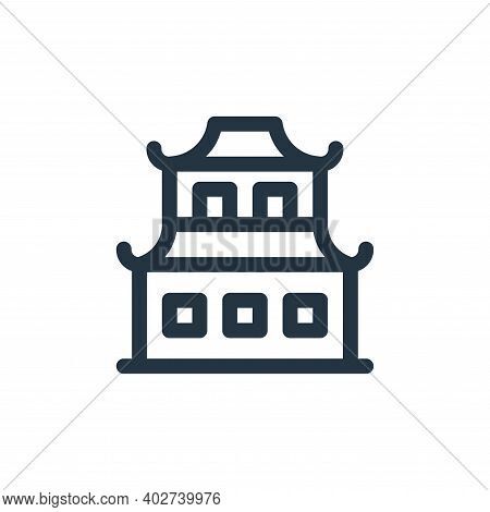 china town icon isolated on white background. china town icon thin line outline linear china town sy