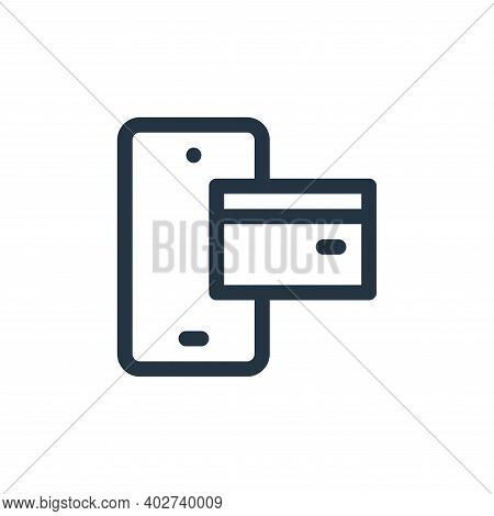 mobile payment icon isolated on white background. mobile payment icon thin line outline linear mobil
