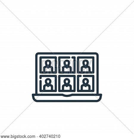 seminar icon isolated on white background. seminar icon thin line outline linear seminar symbol for