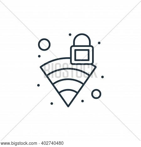 wifi icon isolated on white background. wifi icon thin line outline linear wifi symbol for logo, web