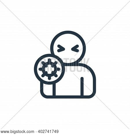 sickness icon isolated on white background. sickness icon thin line outline linear sickness symbol f
