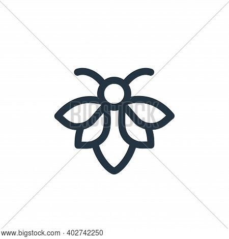 bee icon isolated on white background. bee icon thin line outline linear bee symbol for logo, web, a