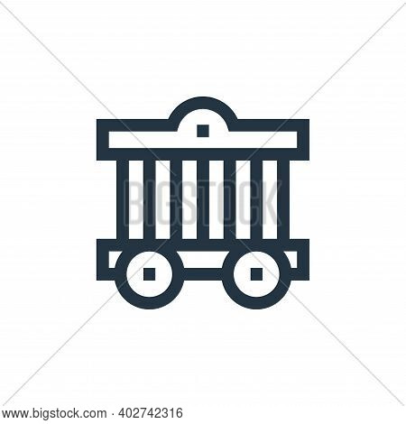 cage icon isolated on white background. cage icon thin line outline linear cage symbol for logo, web
