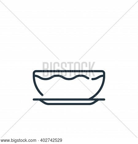 bowl icon isolated on white background. bowl icon thin line outline linear bowl symbol for logo, web