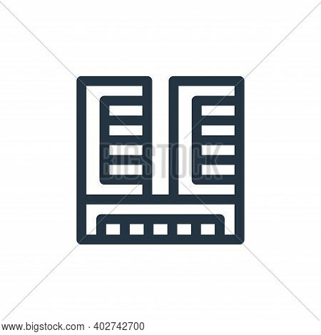 office building icon isolated on white background. office building icon thin line outline linear off