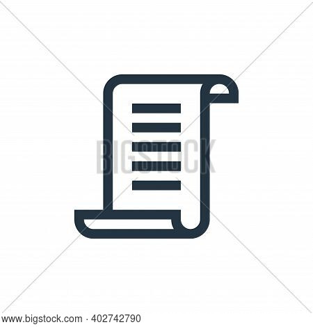 rules icon isolated on white background. rules icon thin line outline linear rules symbol for logo,