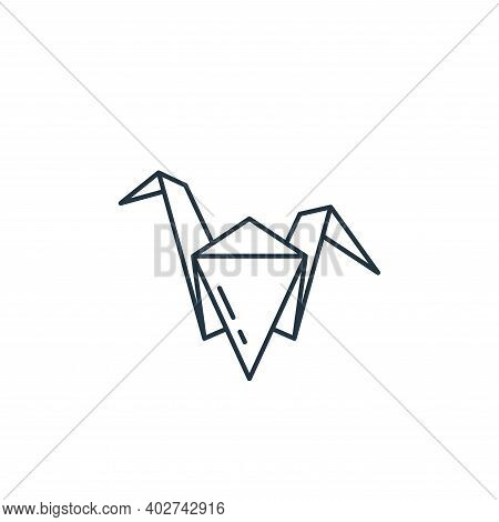 origami icon isolated on white background. origami icon thin line outline linear origami symbol for