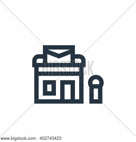post office icon isolated on white background. post office icon thin line outline linear post office