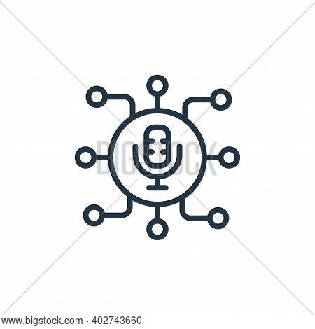 voice microphone icon isolated on white background. voice microphone icon thin line outline linear v