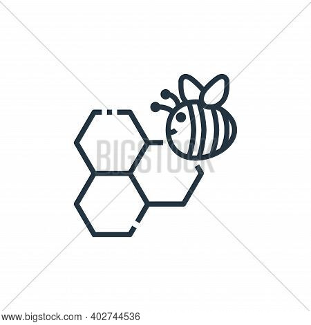 bees icon isolated on white background. bees icon thin line outline linear bees symbol for logo, web