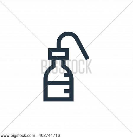 wash bottle icon isolated on white background. wash bottle icon thin line outline linear wash bottle
