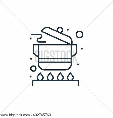 cooking pots icon isolated on white background. cooking pots icon thin line outline linear cooking p