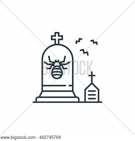 gravestone icon isolated on white background. gravestone icon thin line outline linear gravestone sy
