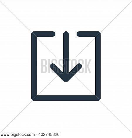 download icon isolated on white background. download icon thin line outline linear download symbol f