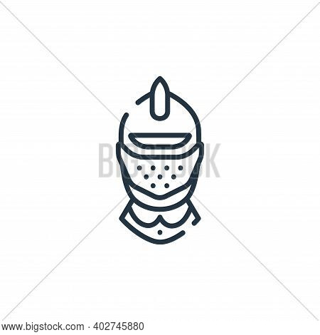 helmet icon isolated on white background. helmet icon thin line outline linear helmet symbol for log
