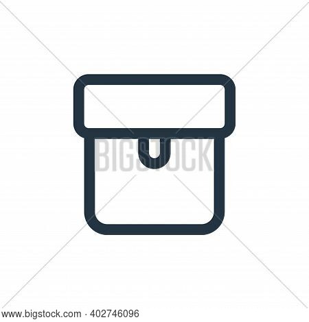 package icon isolated on white background. package icon thin line outline linear package symbol for