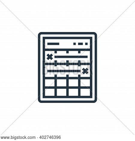 timeline icon isolated on white background. timeline icon thin line outline linear timeline symbol f