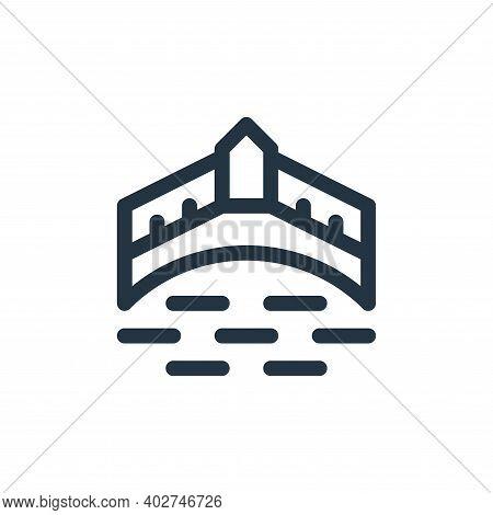 ponte vecchio icon isolated on white background. ponte vecchio icon thin line outline linear ponte v