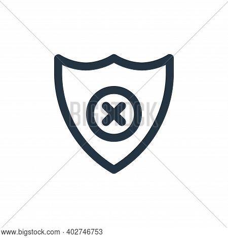 no protection icon isolated on white background. no protection icon thin line outline linear no prot