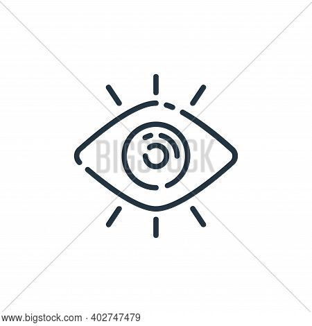 eye icon isolated on white background. eye icon thin line outline linear eye symbol for logo, web, a