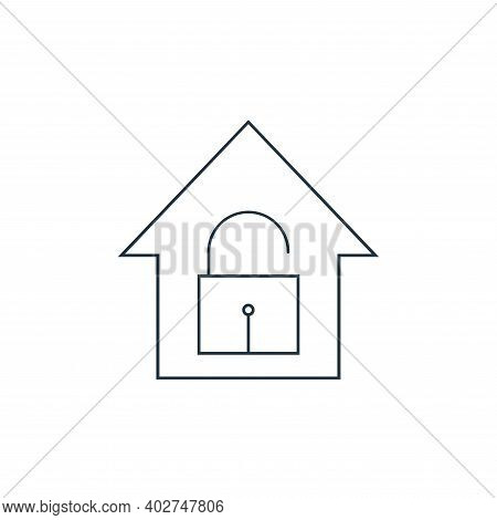 unlock icon isolated on white background. unlock icon thin line outline linear unlock symbol for log