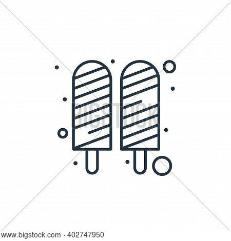 ice cream stick icon isolated on white background. ice cream stick icon thin line outline linear ice