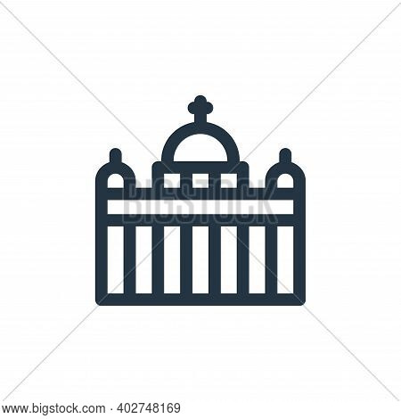 vatican city icon isolated on white background. vatican city icon thin line outline linear vatican c