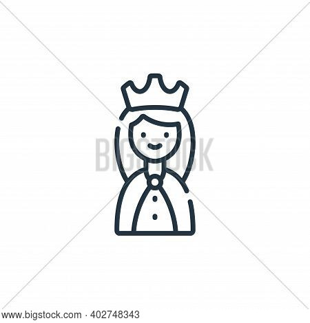 queen icon isolated on white background. queen icon thin line outline linear queen symbol for logo,