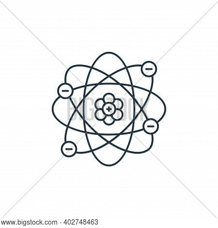 atom icon isolated on white background. atom icon thin line outline linear atom symbol for logo, web