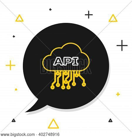 Line Cloud Api Interface Icon Isolated On White Background. Application Programming Interface Api Te