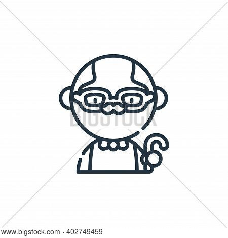 grandfather icon isolated on white background. grandfather icon thin line outline linear grandfather