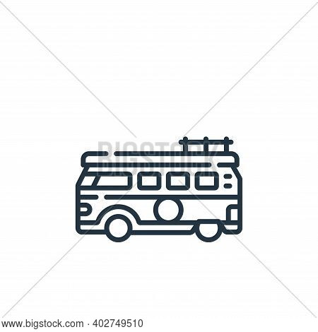 van icon isolated on white background. van icon thin line outline linear van symbol for logo, web, a