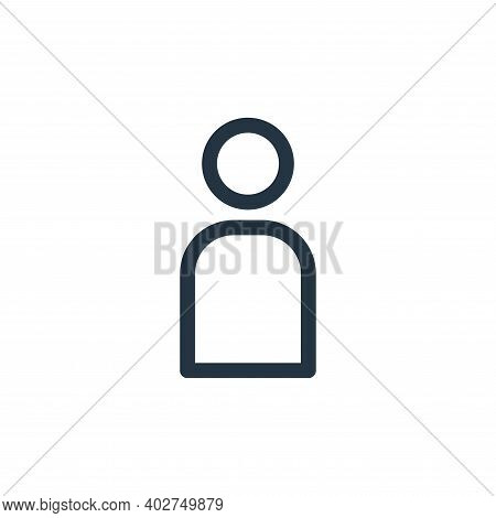 account icon isolated on white background. account icon thin line outline linear account symbol for