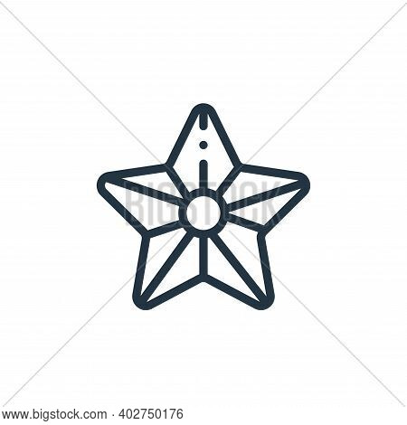 sea star icon isolated on white background. sea star icon thin line outline linear sea star symbol f