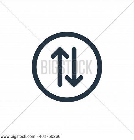 exchange icon isolated on white background. exchange icon thin line outline linear exchange symbol f