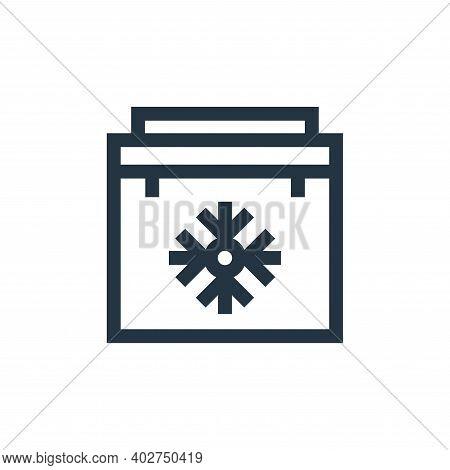 portable fridge icon isolated on white background. portable fridge icon thin line outline linear por