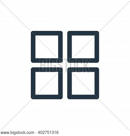 application icon isolated on white background. application icon thin line outline linear application
