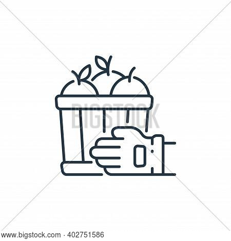 harvest icon isolated on white background. harvest icon thin line outline linear harvest symbol for