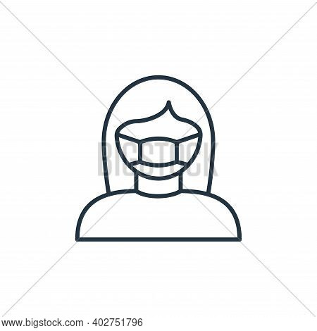 face mask icon isolated on white background. face mask icon thin line outline linear face mask symbo